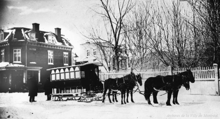 1878, Le City Passenger Railway, Archives de la Ville de Montréal, BM042-Y-1-P1048.