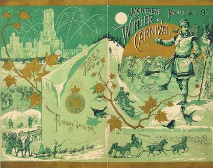 Le programme des festivités du Carnaval d'hiver de Montréal, du 4 au 9 février 1884.