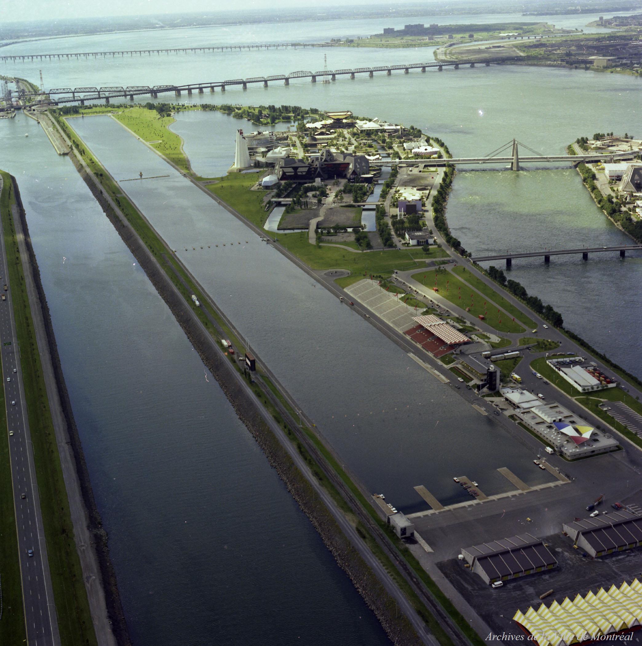 Le Bassin olympique, peu avant les Jeux.