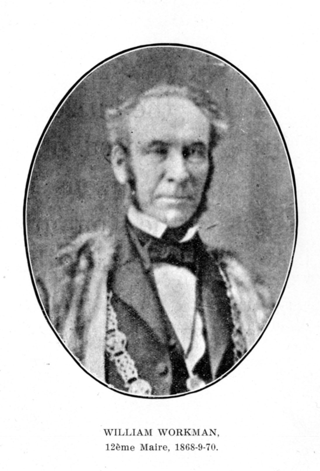 Portrait en médaillon de William Workman