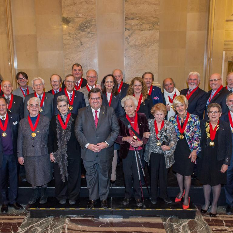 Handover Ceremony of the Academy of Great Montrealers to the Ordre de Montréal, December 17, 2016.