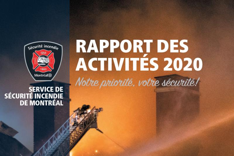 Une partie de la page couverture du Rapport des activités du SIM 2020