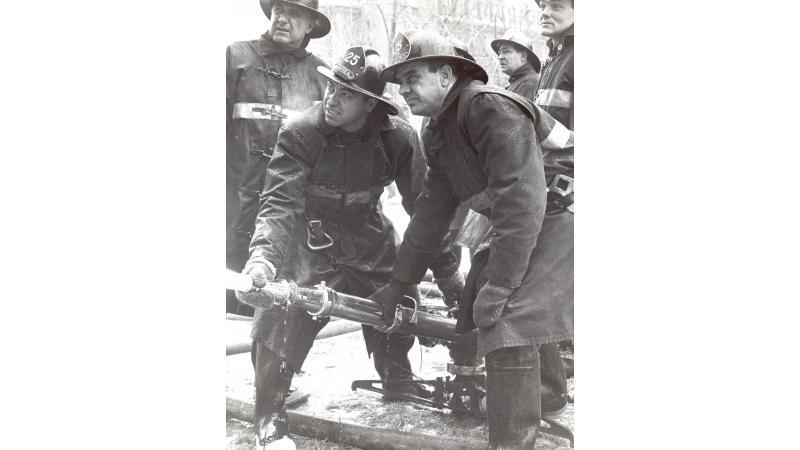 Les pompiers de la caserne 25 en 1969