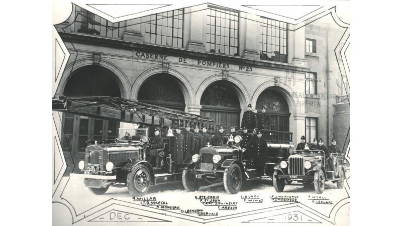 L'équipe de la caserne 25 en 1931
