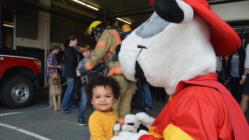 Open House at fire station 19, in 2014.