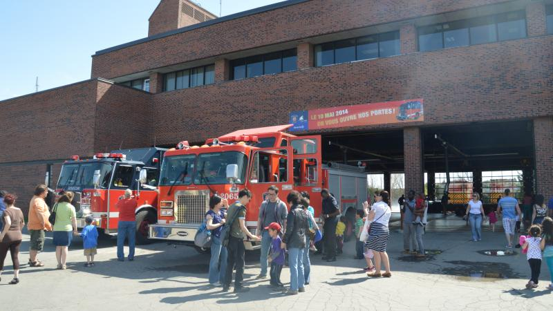 Open House at fire station 65, in 2014.