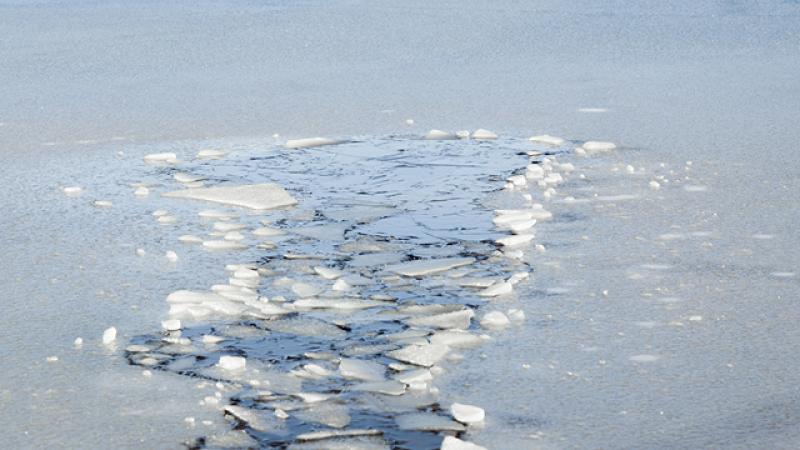 Cours d'eau gelé