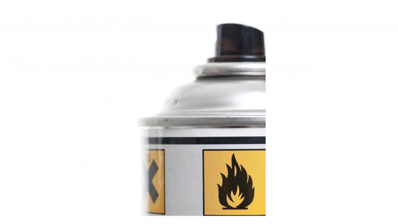 Produit inflammable en aérosol.