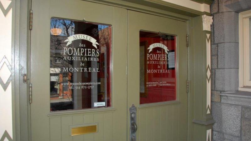 L'entrée du Musée des pompiers de Montréal.