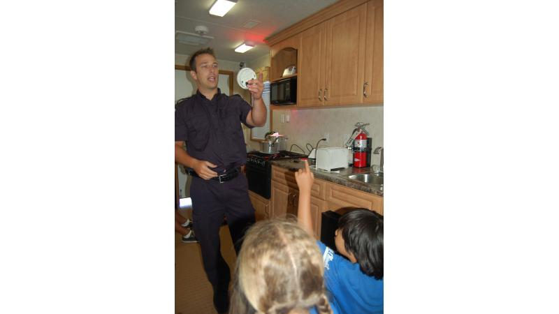 SIM fire safety educator shares prevention tips with children