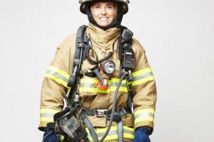 Montréal firefighter in uniform