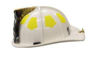 White helmet worn by managers