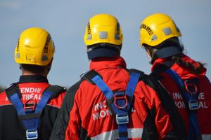 High-angle rescue team