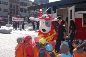 Chief during Fire Prevention Month launch