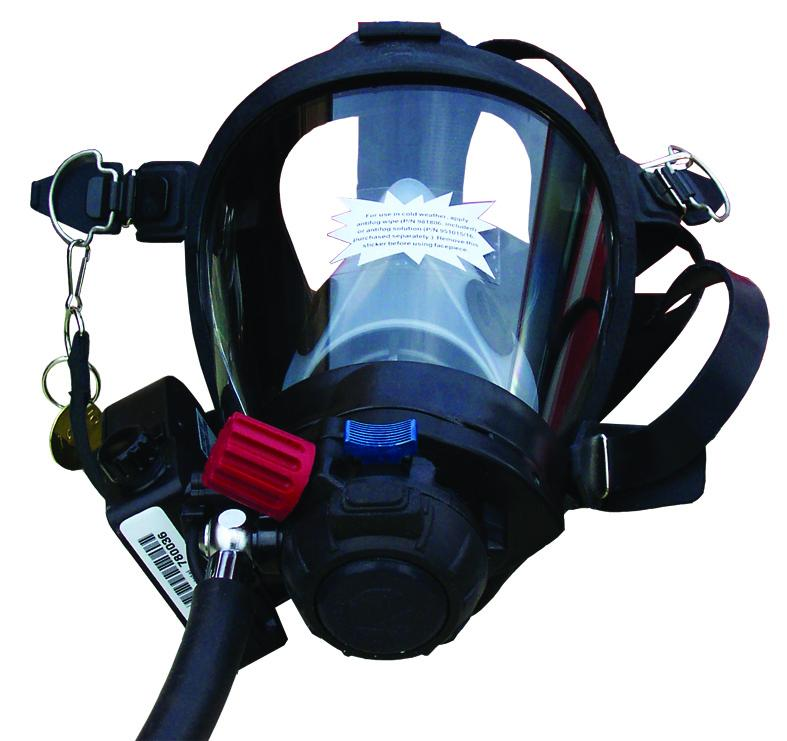 The facial part of the self-contained breathing apparatus