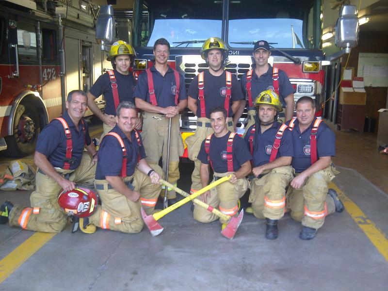 Firefighters from Station 72-4