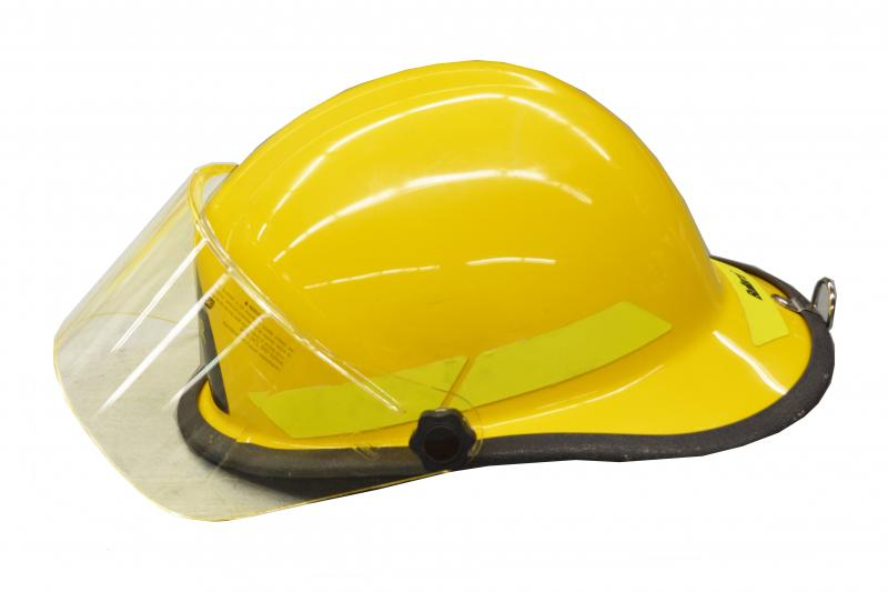 Yellow firefighter's helmet