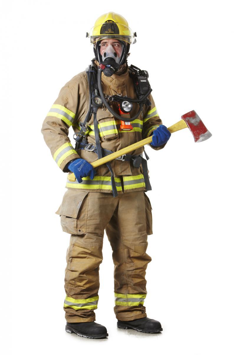 Montréal firefighter's uniform