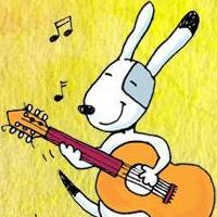 Chef joue de la guitare