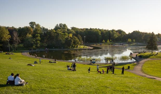 Lac aux Castors. Photographie.