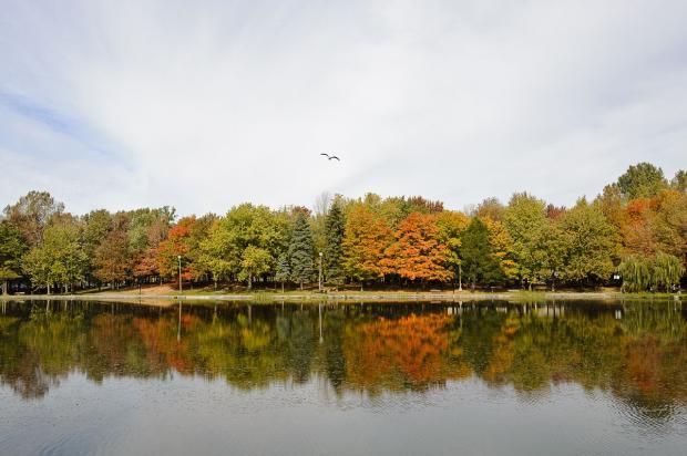 Le lac aux Castors . Photographie.