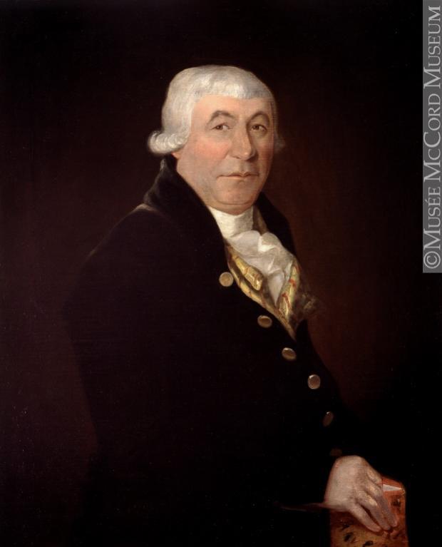 Portrait de James McGill, portant une veste noire et une perruque blanche