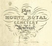Signature graphique de James Charles Sidney et de son associé J. Neff, qui se lit Sidney and Neff, incluse dans le titre Plan of Mount Royal cemetery near Montreal laid out by Sidney and Neff civil engineers Philadelphia 1852.
