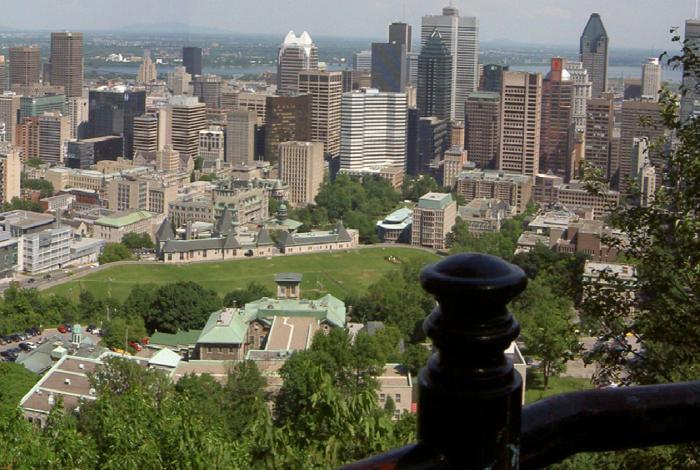 Vue de Montréal depuis le mont Royal en 2007.