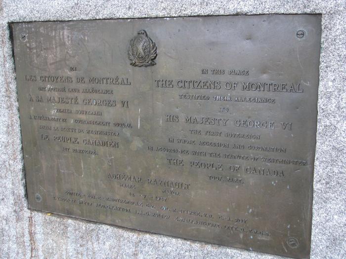 """""""Allégeance des citoyens de Montréal à Georges VI"""", 1937, détail."""