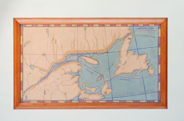 """Paul-Émile Borduas, """"1534-1535, Les Voyages de Jacques Cartier au Canada,"""" 1931."""