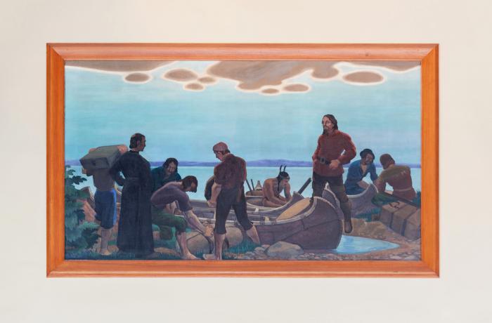 """Edwin H. Holgate, """"Départ de La Salle pour aller à la découverte du Mississipi"""", 1931."""