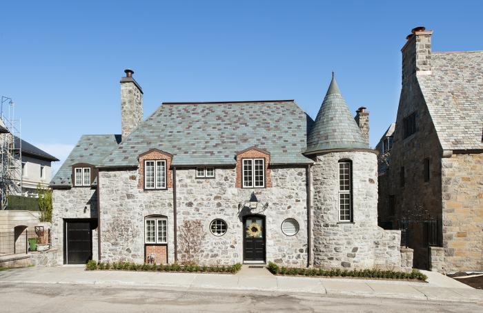 Façade principale de la maison McDougall. Photographie.