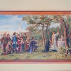 """Georges Delfoss, """"Maisonneuve fonde la Ville de Montréal le 18 mai 1642"""", 1931."""