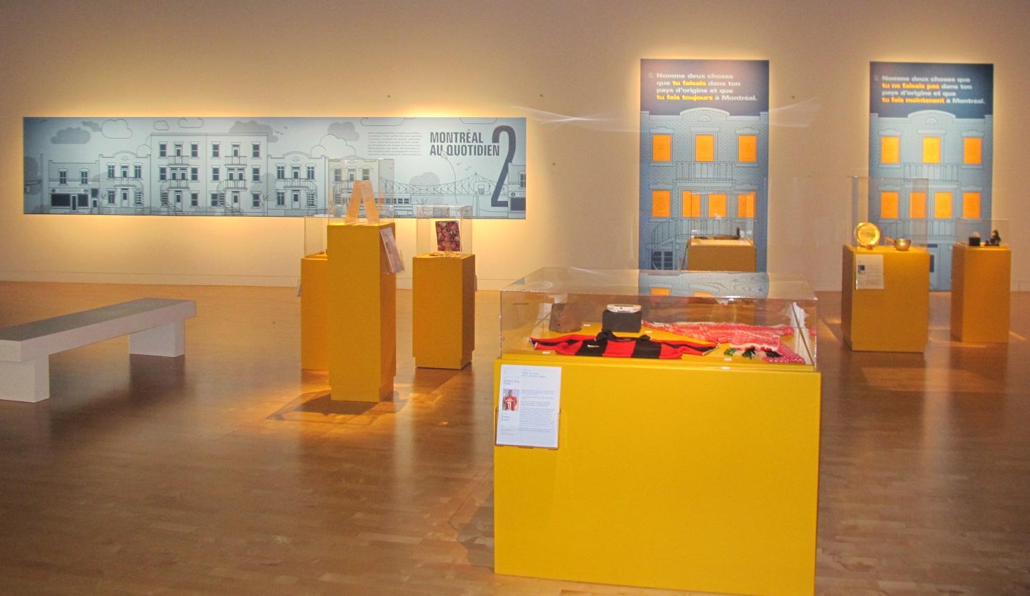 Exposition J'arrive à Montréal au Centre d'exposition Lethbridge