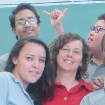 Maryse Carosi et sa classe