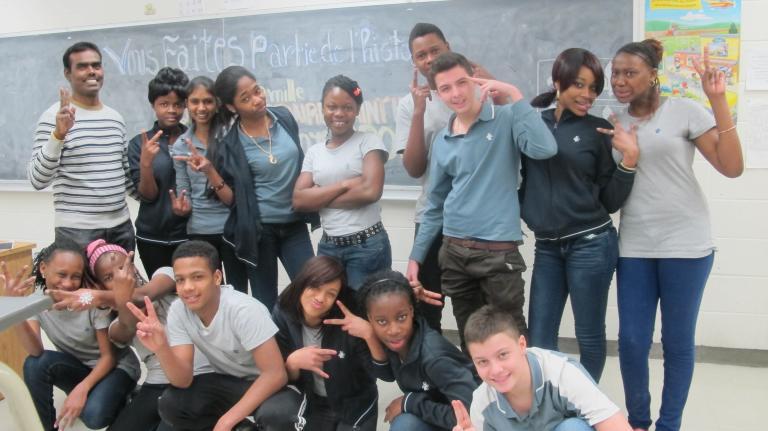 Tirou Tiroumourougane et sa classe